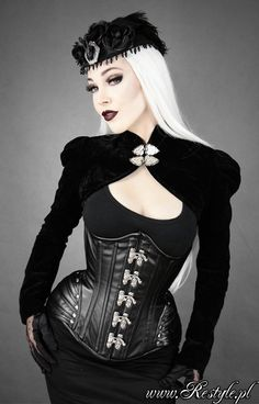 """""""BLACK ARMOR"""" Faux leather hourglass underbust corset gothic"""