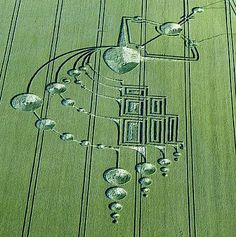 Crop circles (Kokopelli maybe?)