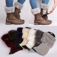 Color: 8 Colors To Choose Package Included : 1 pair Leg Warmers Material: cotton, acrylic, faux fur