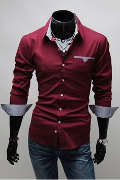 New 2013 Collection Mens Sexy Formal Casual Slim Fit Dress Shirt All Styles | eBay