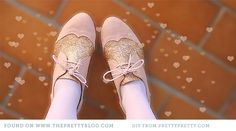 Make Your Own Glittered Brogues