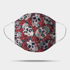 Happy Smiling Skulls with Red Roses to celebrate Day of the Dead. Remembrance and prayers on Dia de Muertos with this beautiful skulls and red roses design. Share Dia de los Muertos with friends and family. Shop Around, Red Roses, The Darkest, Skull, Happy, Gifts, Beautiful, Design, Presents