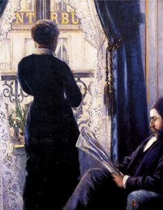 Caillebotte, Gustave (b,1848)- Man Reading; Woman Not