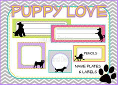 Puppy Love Classroom Decoration Pack- $55 www.etsy.com/shop/lollylanddesigns