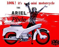 'Ariel Leader - 1960' - Fantastic A4 Glossy Art Print Taken From A Vintage Motorcycle Ad