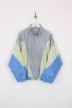 58ab5262f9625 Adidas Shell Suit Jacket Silver Blue Large. Mode Vintage · Tissu · Veste ...