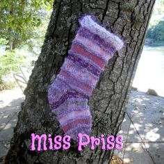 Miss Priss Christmas Stocking Hand Knit by JingleBellSocks for $58.00