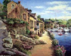 【图】【转载】画家笔下的欧洲小镇(26P+11S) - 水彩学童的日志 - ..._海上遥远的收集_我喜欢网