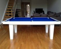 Pool Diner - 7ft in White / Blue - Snooker & Pool Table Company Ltd