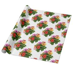Spring Flowres - Gerberas Wrapping Paper - spring gifts beautiful diy spring time new year
