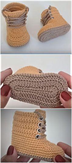 Crochet Baby Combat Boots - Baby Boots Combat Crochet crochet ideas for bab.Crochet Baby Combat Boots - Baby Boots Combat Crochet crochet ideas for baby room Crochet Baby Combat Boots - Claire C. Crochet Boots, Crochet Slippers, Knit Crochet, Crochet Baby Boots Pattern, Crochet Baby Socks, Crochet House, Crochet Summer, Blanket Crochet, Crochet Beanie