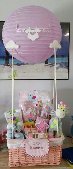 Baby shower hot air balloon.