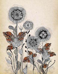Creative Sketchbook: Fantasy Floral Illustrations by Iveta Abolina!