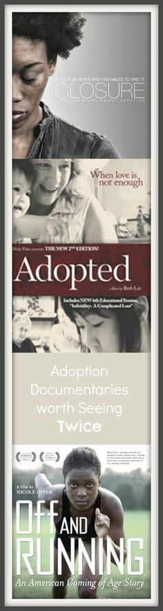 Love these adoption documentaries - all filed by or featuring adoptees!