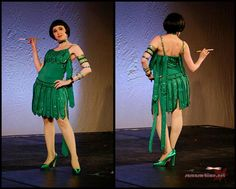 "Oh my! This chick made her own version of Cyd Charisse's dress from ""Singin' in the Rain""! SO amazing!!"