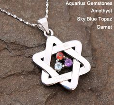 Warrior - Sterling Silver Necklace For Zodiac Sign of Aquarius