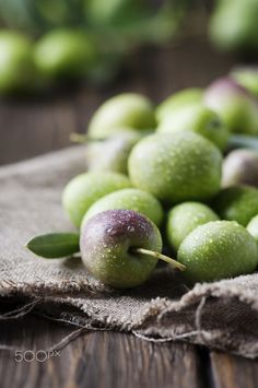 Olive by Oxana Denezhkina Kinds Of Fruits, Fruits And Vegetables, Olives, Raindrops And Roses, How To Make Oil, Apple Harvest, Beautiful Fruits, Food Backgrounds, Olive Gardens