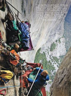Dedicated Climbers   Photographer and Location Unknown   Huge respect for these daredevils