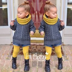 Black dress fall outfit for baby