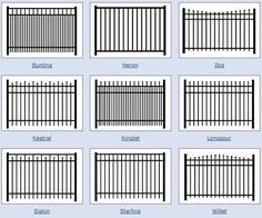 Various aluminum fences
