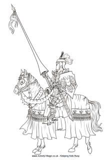 Free Knights Coloring Pages.  I printed out all of these for my boys - they loved them!