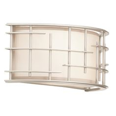 Atelier Tarnished Silver Two Light Horizontal Wall Sconce Kalco Flush To Wall Wall Sconces