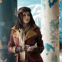 Fallout 4 - Piper Wright cosplay by on DeviantArt Art Fallout, Fallout 4 Piper, Fallout Concept Art, Fallout Tips, Cosplay Fallout, Fallout Costume, Post Apocalyptic Fashion, Fall Out 4, Futuristic Art