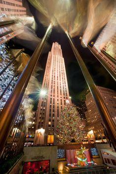 Rockefeller Center at Christmas, New York City