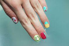 Ideas Para Todos: Uñas Con Motivos De Frutas Pedi, Nail Art, Beatrix Potter, How To Make, Beauty, Hair, Ideas, Watermelon Designs, Fruit Designs
