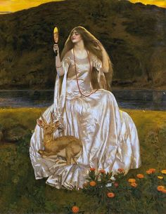 "By Artist Frank Cadogan Cowper (1877– 1958), ""The Damsel Of The Lake""..."