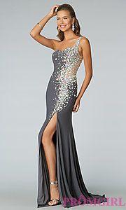 Buy Floor Length One Shoulder JVN by Jovani Dress at PromGirl