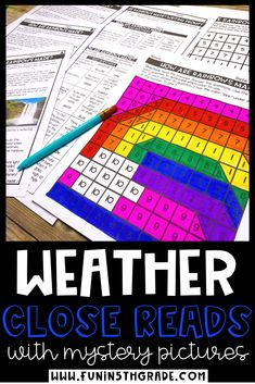 Weather Themed close reading passages with mystery pictures are perfect for test prep and reviewing close reading strategies while engaging students with high interest reading comprehension stories!  This reading resource come with questions, a graphic organizer, writing prompt and mystery picture.  Includes 3 DIFFERENT passages DIFFERENTIATED to 3 different levels!