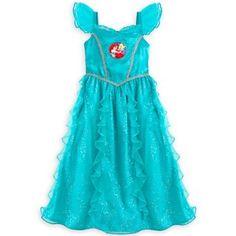 Disney Store Princess Belle Deluxe Sleeveless Nightgown Pajama Girl Size 4 7//8