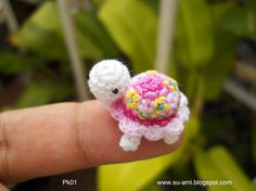 Amazingly tiny crochet turtle by suami on Etsy