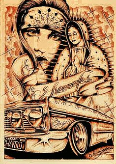 México l'm Love. Chicano Drawings, Chicano Tattoos, Art Drawings, Drawing Tattoos, Arte Lowrider, Cholo Art, Cholo Style, Prison Art, Latino Art