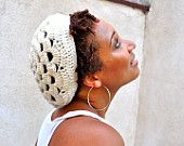 Scalloped Slouchy Beanie in Ivory