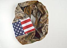 Realtree camo American flag infinity scarf