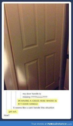 Missing door handle
