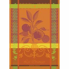 Garnier Thiebaut, Oranges Sanguine French Woven Kitchen / Tea Towel, 100 Percent Cotton *** Discover this special product, click the image : Kitchen Table Linens