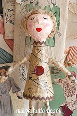 Paper Mache Doll made with patterns