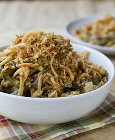 Six Hour Green Bean Casserole | Cheddar cheese makes this one of the best green bean casserole recipes!