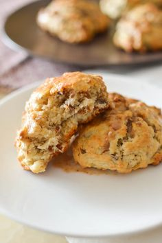 Scones that taste like banana bread! Drizzled with cinnamon glaze, you'll be licking the plate for sure!