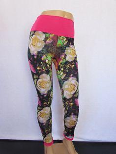 Zanza Wow Print DTY Lycra Leggings festival dance lounge  pants Great print Pants Yoga M