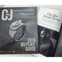 Our very own Noam Carver made the cover of the Canadian Jeweller 2016 buyer's guide! #canadianjeweller #noamcarver #jewellery #jewelry