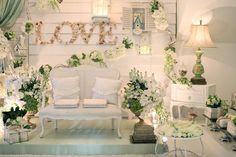The Hamptons-Themed Akad Nikah - The Wedding Notebook magazine Green Gold Weddings, Gold Wedding Theme, Wedding Fair, Wedding Prep, Wedding Ideas, Wedding Bells, Wedding Stuff, Wedding Inspiration, Wedding Stage Backdrop