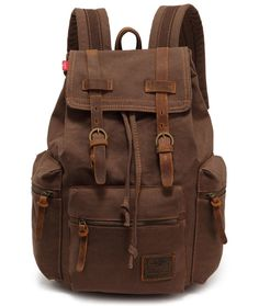 4201fdfff58 Amazon.com  Vere Gloria Canvas Leather Backpack, 15-Inch  Computers    Accessories