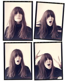 The perfect fringe/hair on Emma Elwin...