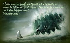 life is a storm my young friend count of monte cristo -