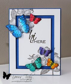 Hi there butterflies card by Diana Nguyen