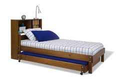 Standard Bed Trundle and bedhead bookcase